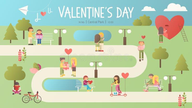 De uitnodiging van de valentijnskaartendag stock illustratie