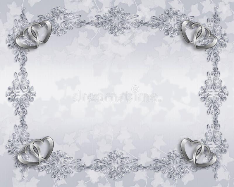 De uitnodigings elegante grens van het huwelijk vector illustratie