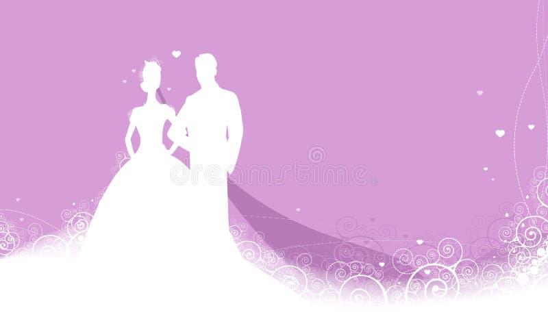 De uitnodigingsachtergrond van het schoonheidshuwelijk royalty-vrije illustratie