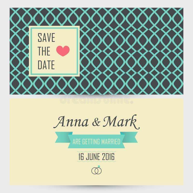De uitnodigingskaart van het huwelijk Vector illustratie vector illustratie