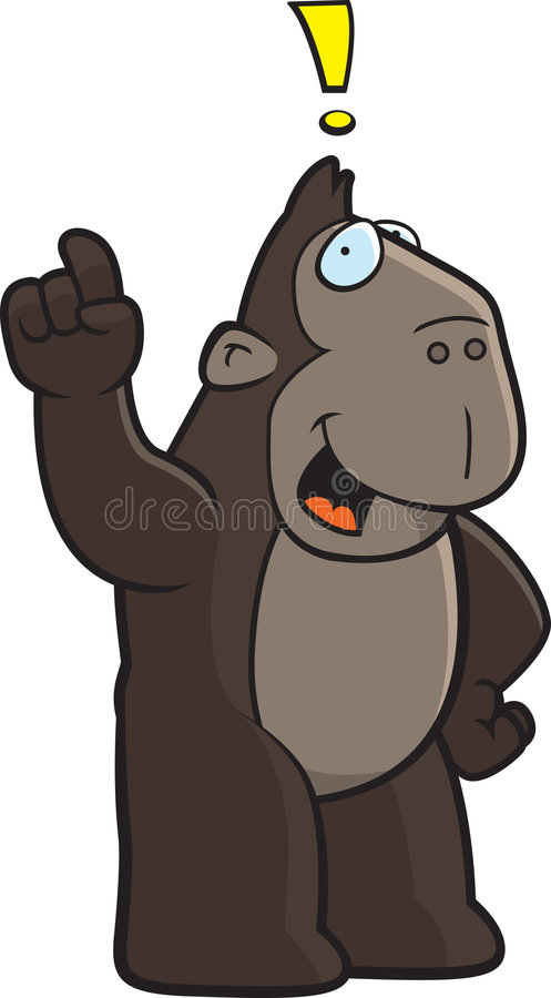 De Uitroep van de aap stock illustratie