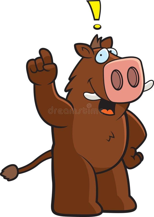De Uitroep van de beer stock illustratie