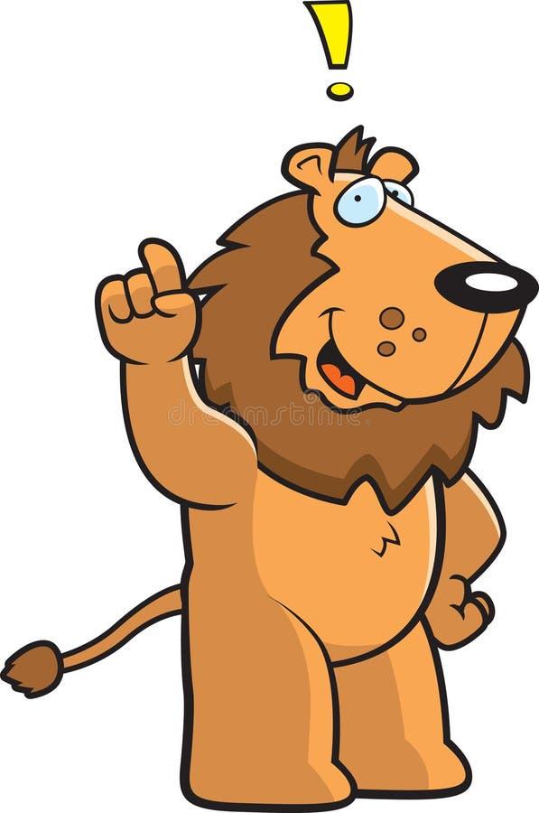 De Uitroep van de leeuw stock illustratie