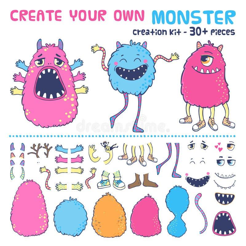 De uitrusting van de monsterverwezenlijking stock illustratie