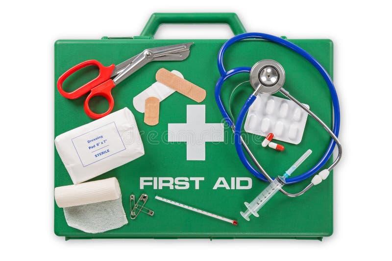 De uitrusting van de eerste hulp stock foto