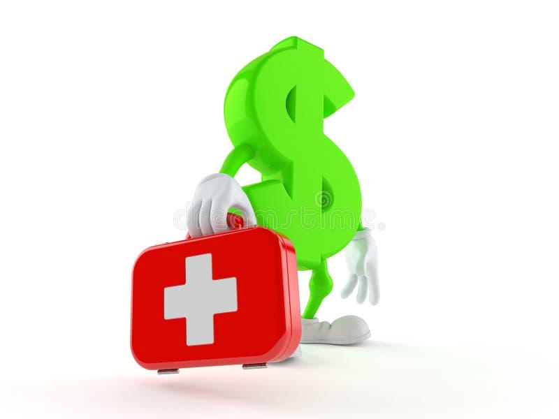 De uitrusting van de de holdingseerste hulp van het dollarkarakter royalty-vrije illustratie