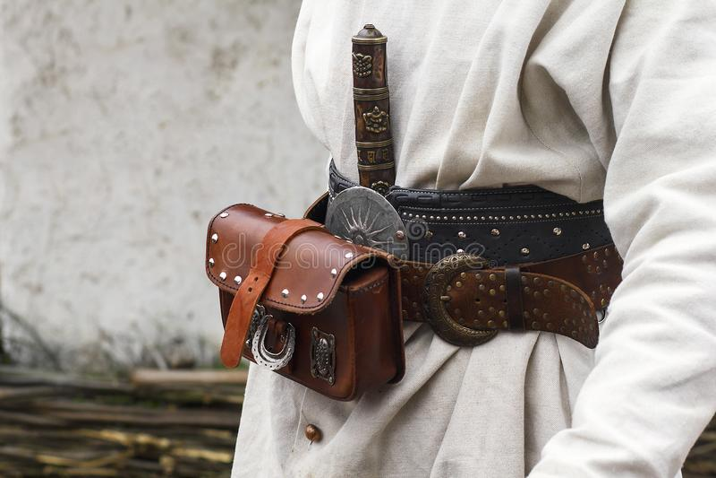 De uitrustingsriem van de kozakkenmunitie royalty-vrije stock afbeelding