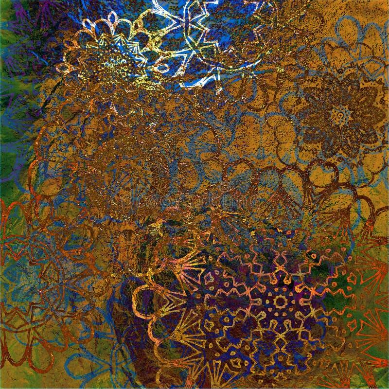 De uitstekende abstracte achtergrond van de kunst grunge stock illustratie