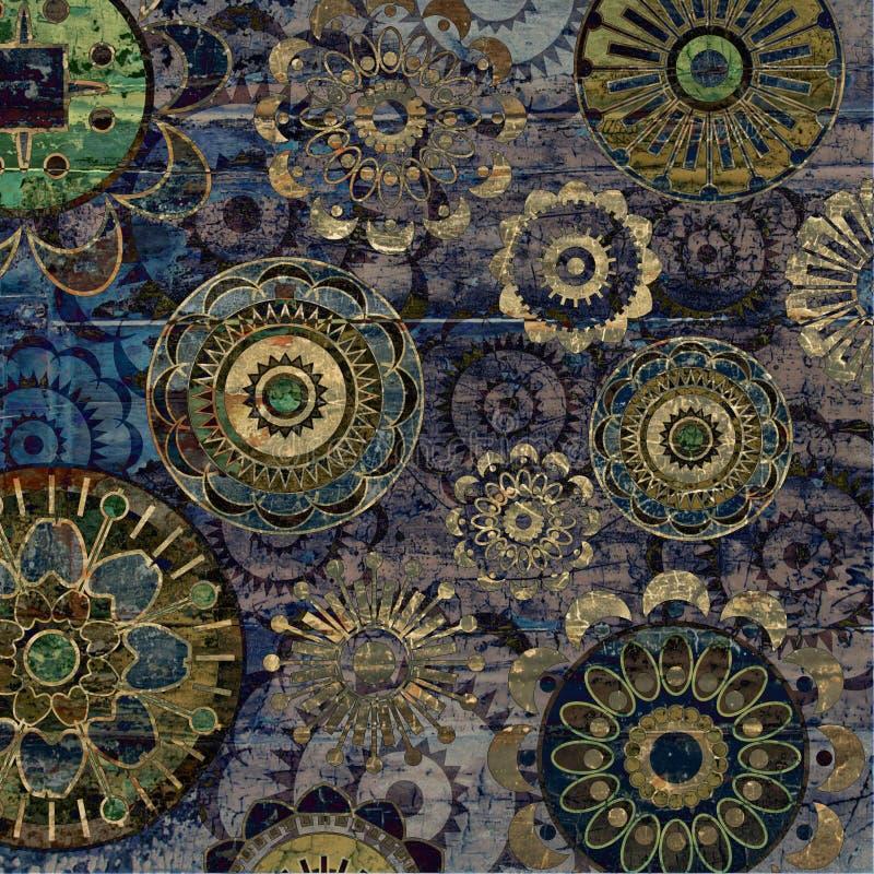 De uitstekende abstracte achtergrond van de kunst grunge royalty-vrije illustratie