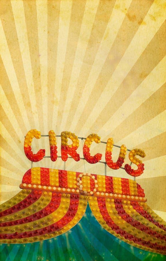 De uitstekende achtergrond van de circusaffiche royalty-vrije stock fotografie