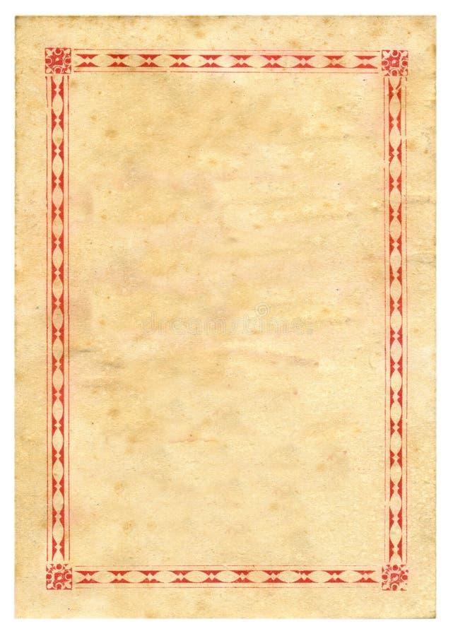De uitstekende Achtergrond van de Textuur van het Document van het Certificaat van de Prijs stock afbeelding