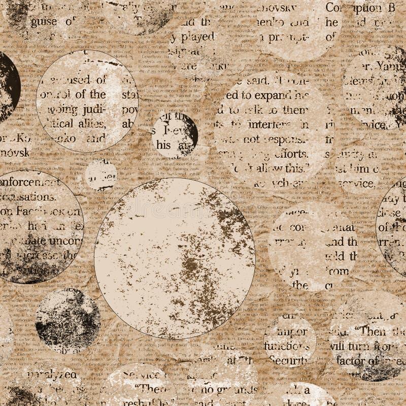 De uitstekende achtergrond van de krantentextuur royalty-vrije stock afbeelding