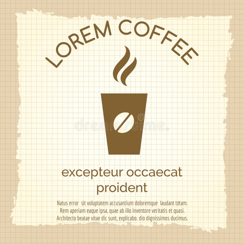 De uitstekende affiche met haalt koffie weg royalty-vrije illustratie