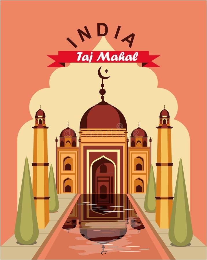 De uitstekende affiche van India royalty-vrije illustratie