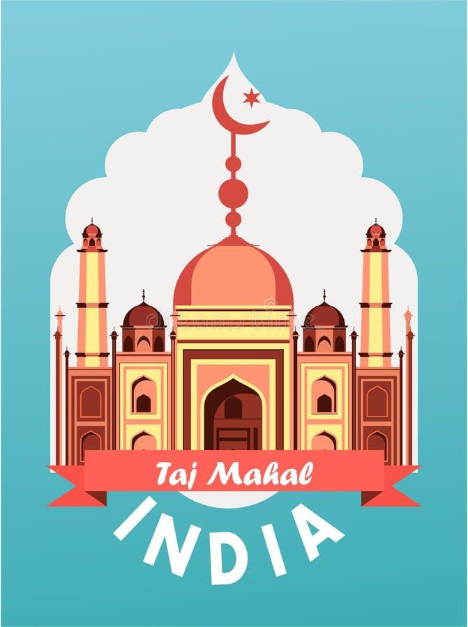 De uitstekende affiche van India stock illustratie
