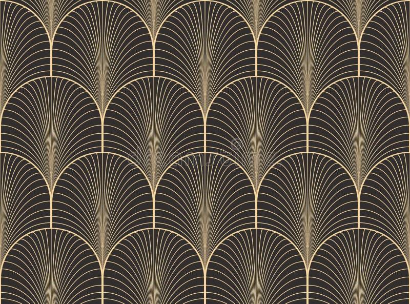 De uitstekende antieke vector van het het behangpatroon van het palet naadloze art deco stock illustratie