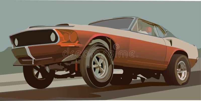 De uitstekende Auto van de Belemmering royalty-vrije illustratie