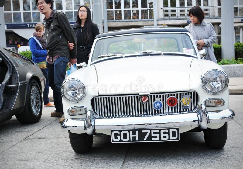 De uitstekende auto van Mg stock afbeelding