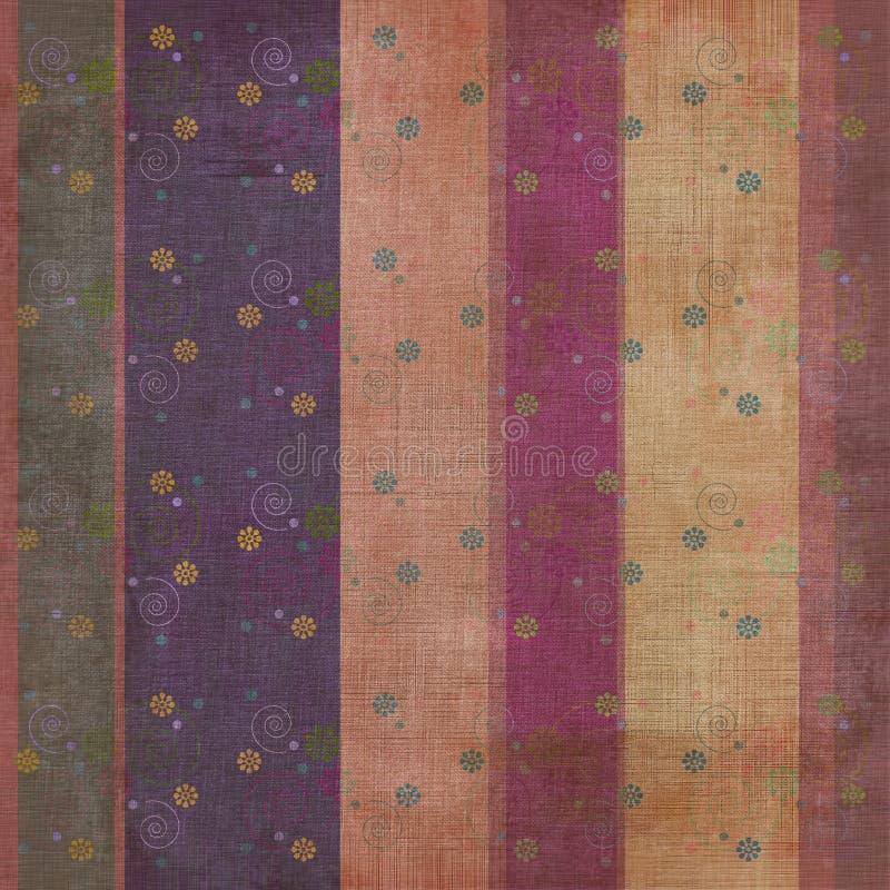De uitstekende Bloemen Boheemse Achtergrond van het Plakboek van het Tapijtwerk Grunge vector illustratie