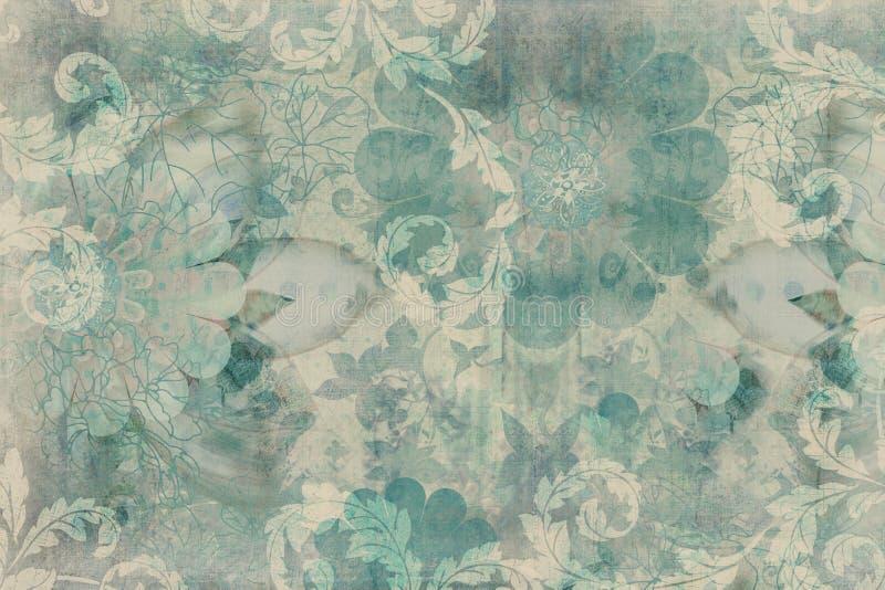 De uitstekende bloemenAchtergrond van het Plakboek royalty-vrije stock foto's