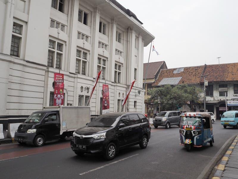 De uitstekende bouw in Kota Tua royalty-vrije stock afbeelding