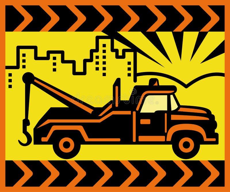 De uitstekende de vrachtwagenbouw van het Slepen stock illustratie