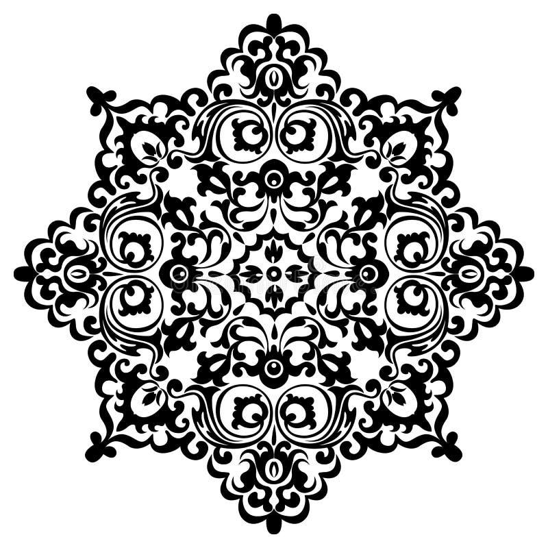 De uitstekende decoratieve zwarte van patroonmandala stock illustratie