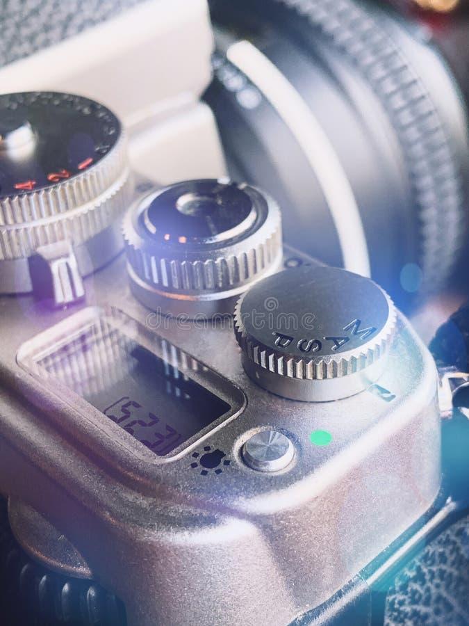 De uitstekende details van de fotocamera royalty-vrije stock foto's