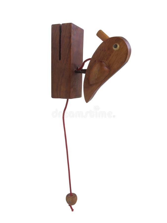 De uitstekende die slag van de vogeldeur van houten wordt gemaakt geïsoleerd op witte achtergrond stock foto's