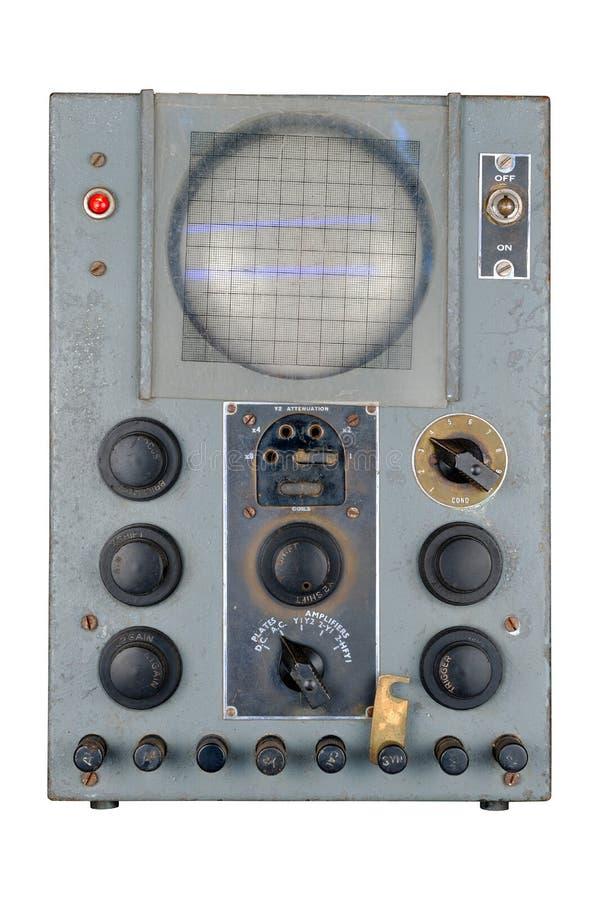 De uitstekende dubbele oscilloscoop van de straal blauwe fosfoor royalty-vrije stock fotografie