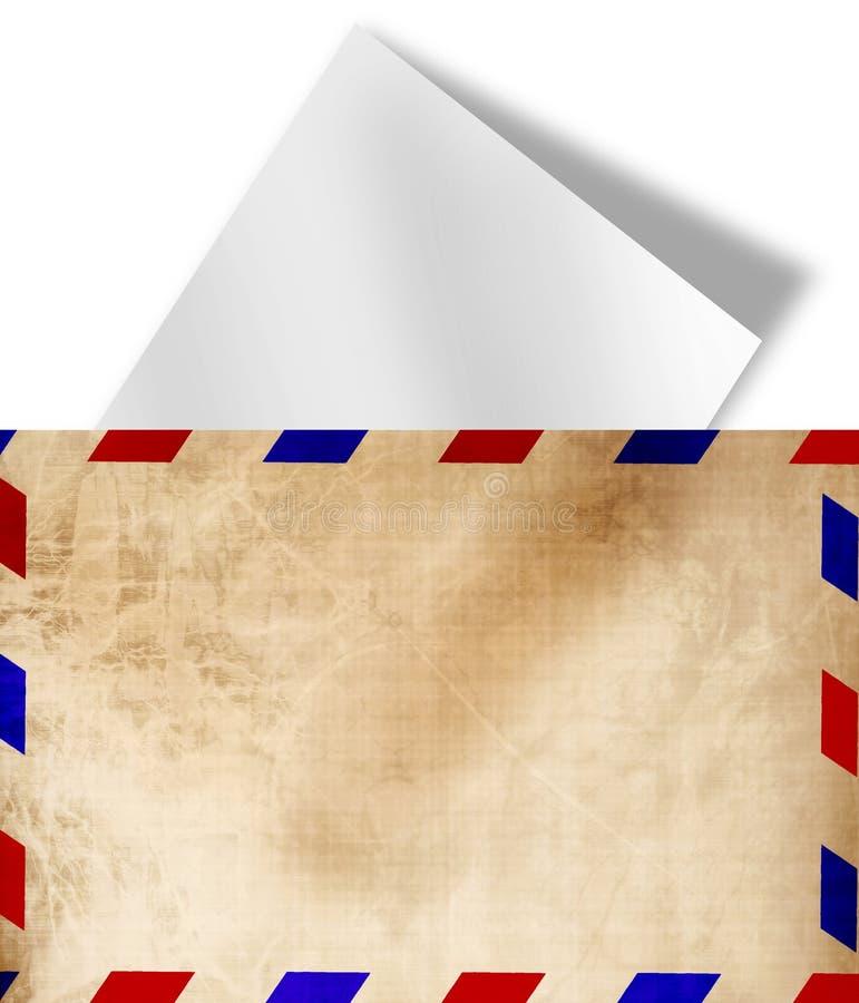De uitstekende envelop van de luchtpost royalty-vrije illustratie