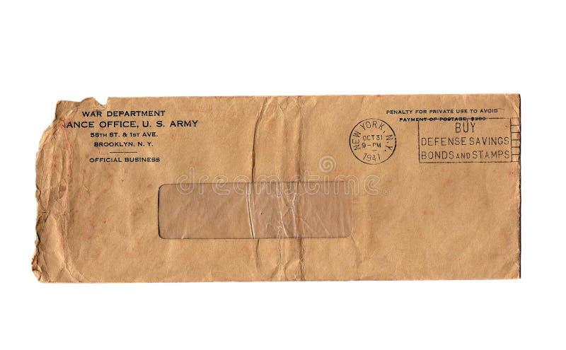 De uitstekende Envelop van de Oorlog Afd. stock foto