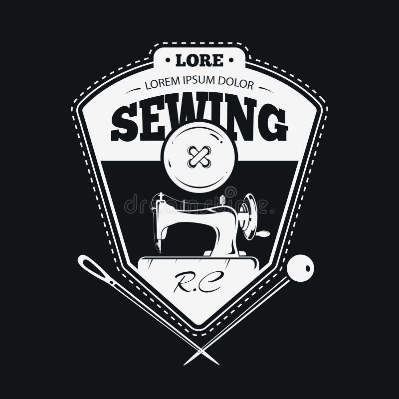 De uitstekende etiketten van de manierkleding of met de hand gemaakte naaiende emblemen vector illustratie