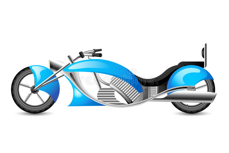 De uitstekende Fiets van de Motor van de stijl vector illustratie