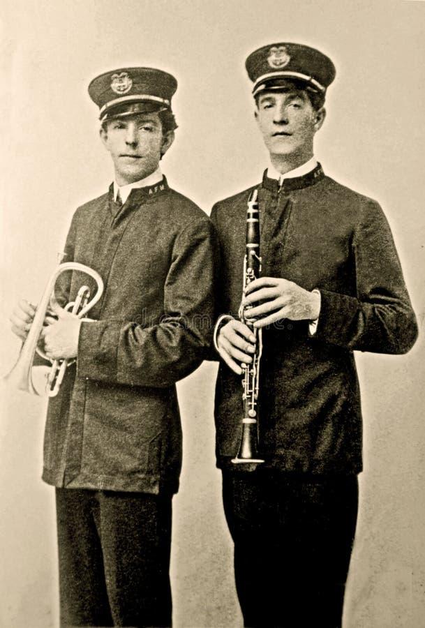 De uitstekende Foto van de Leden van de Band stock foto