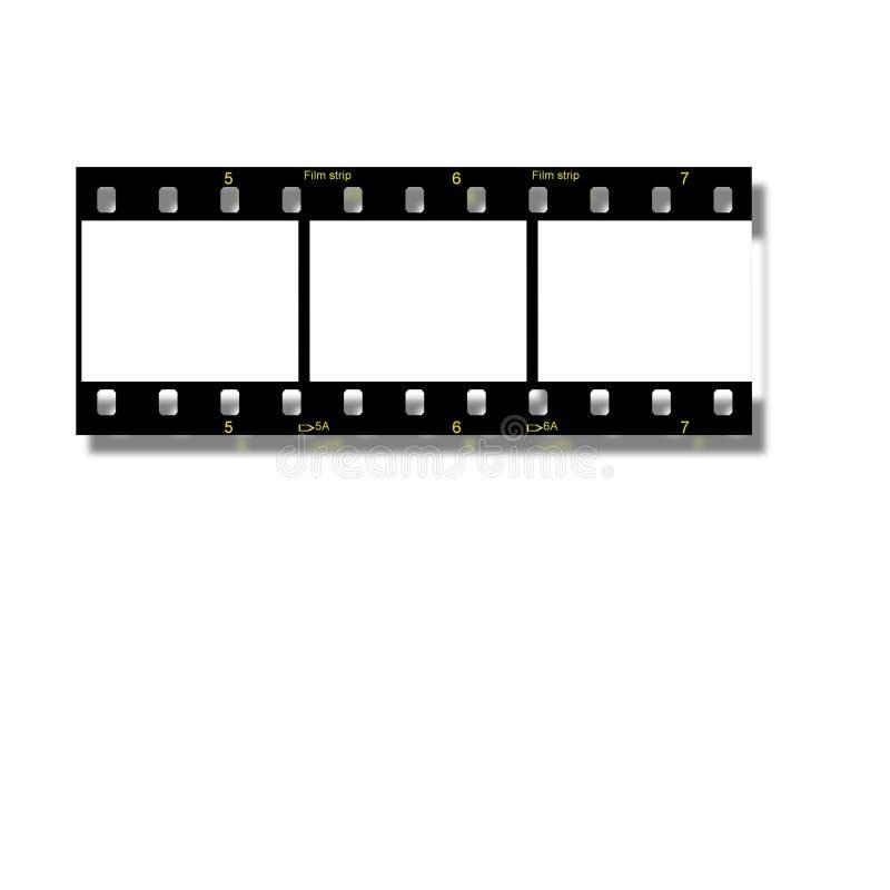 De uitstekende frames van de stijlfilm. royalty-vrije illustratie