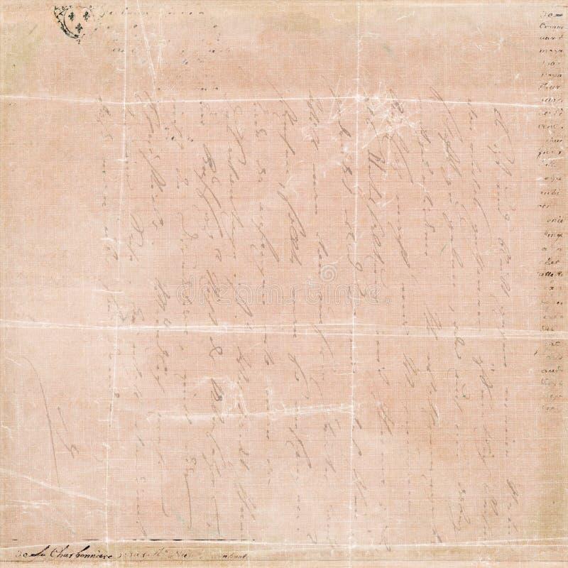 De uitstekende Franse achtergrond van de het manuscriptcollage van de Brief royalty-vrije stock foto