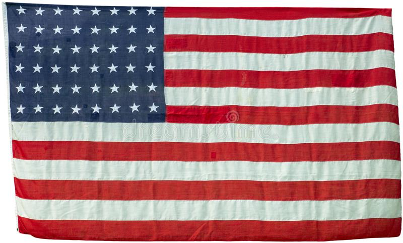 De Uitstekende Geïsoleerde Vlag van Verenigde Staten stock afbeelding