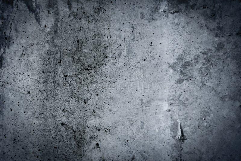 De uitstekende grijze geschilderde achtergrond van de pleister concrete muur. Donkere rand royalty-vrije stock foto's