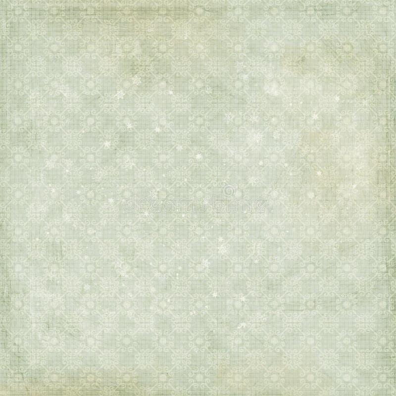 De uitstekende Grungy Blauwe Achtergrond van de Sneeuwvlok van Kerstmis royalty-vrije stock afbeeldingen