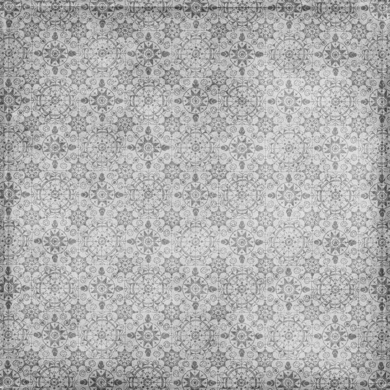 De uitstekende Grungy Textuur van de Sneeuwvlok van Kerstmis vector illustratie