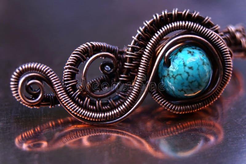 De uitstekende halsband van koperjuwelen royalty-vrije stock foto