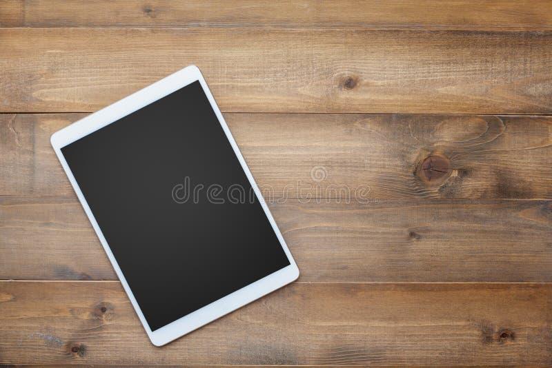 Vintage white paper smartphone mockup flat lay op oude tafel top wood background texture space concept werkruimte kantoor blanco  royalty-vrije stock afbeeldingen