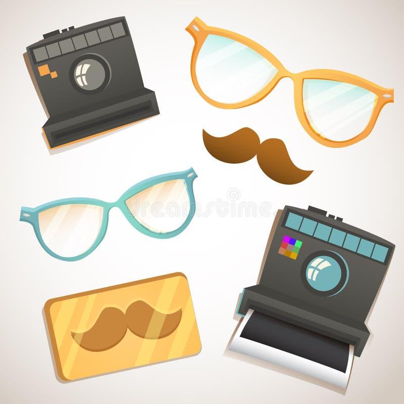 De uitstekende inzameling van Hipster in punten royalty-vrije illustratie