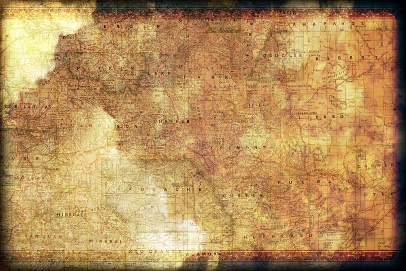 De uitstekende Kaart van Colorado royalty-vrije illustratie