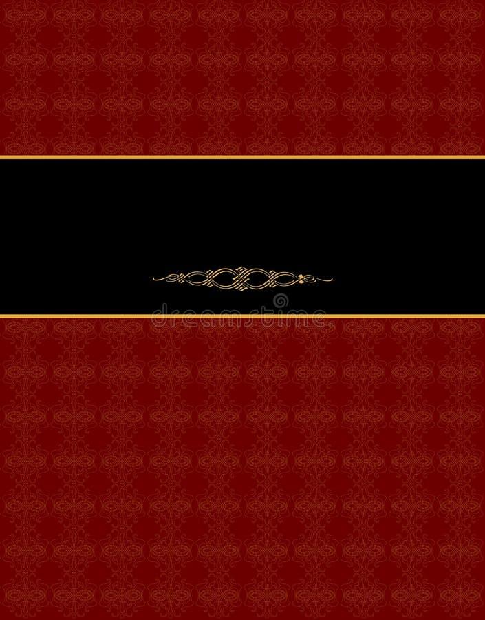 De uitstekende kaart van het damast. vector illustratie