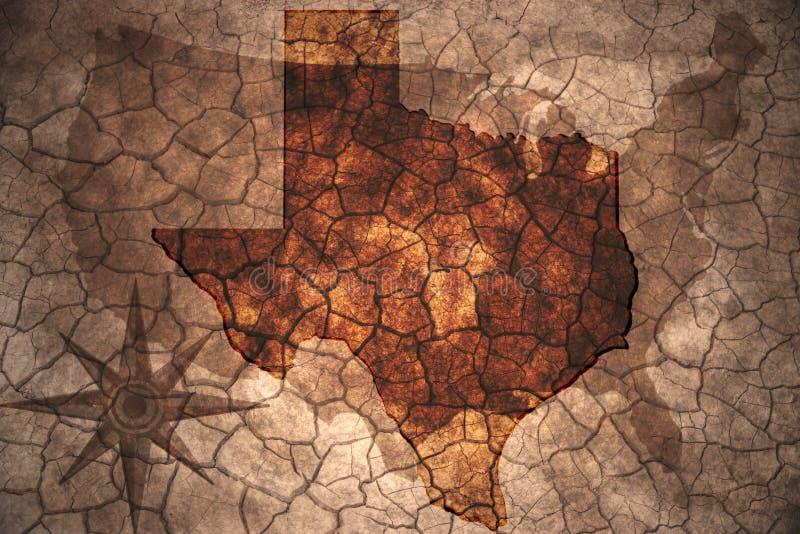 de uitstekende kaart van de staat van Texas royalty-vrije illustratie