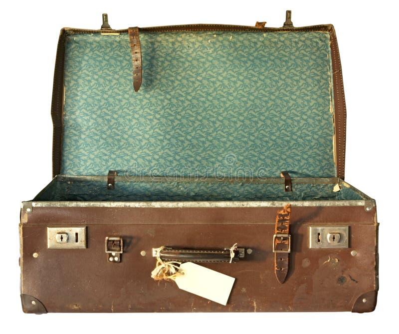 De uitstekende Koffer, opent royalty-vrije stock afbeelding