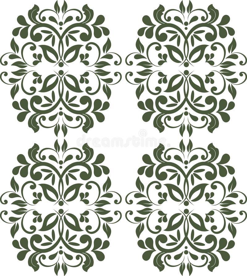 De uitstekende Koninklijke klassieke achtergrond van de ornamentgrens stock illustratie