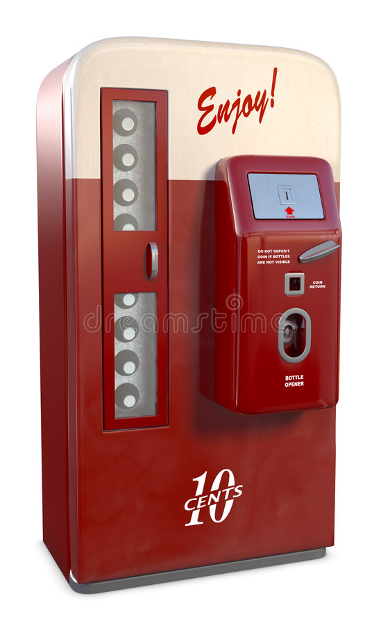 De uitstekende Machine van de Soda vector illustratie